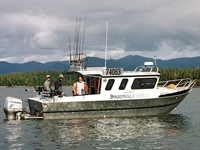 One of the five fishing boats