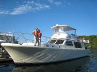 The Tour Boat - 53 foot luxury Canoe Cove motor ya